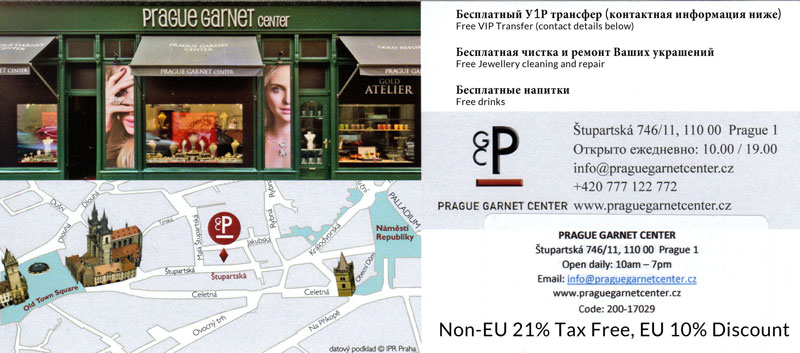 prague garnet and jewellery discount