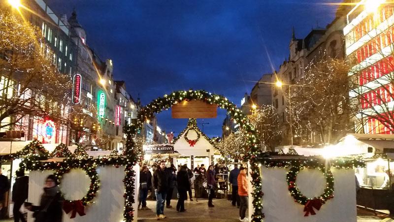 wenceslas square christmas market entry