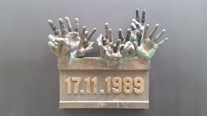 1989 Memorial Plaque to the Czech Velvet Revolution