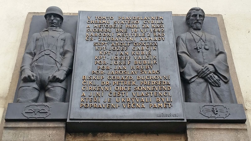 The Plaque on the STs Cyril and Methodius Church in Resslova