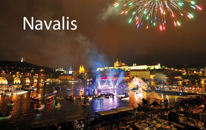 scenic view of prague navalis festival may 15th