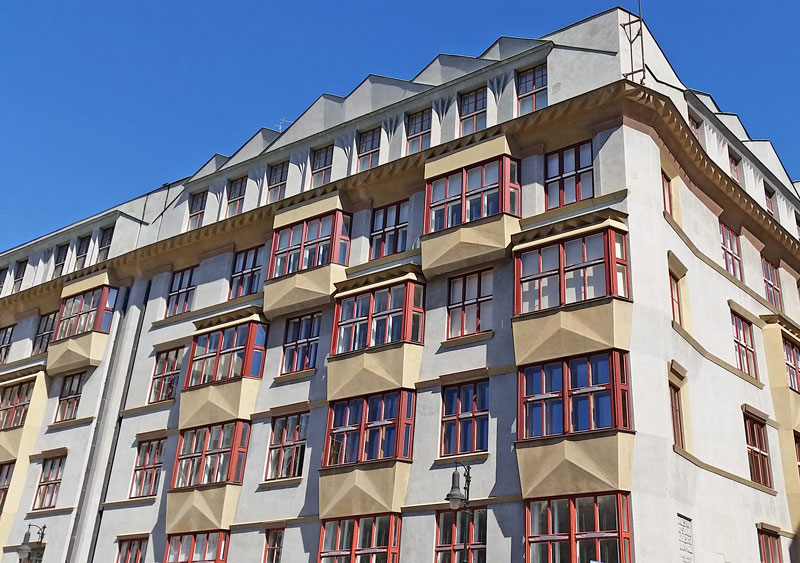A cubism style apartment block in prague's Old Town