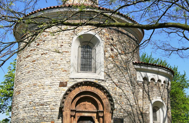 st martins romanesque rotunda at vysehrad, prague