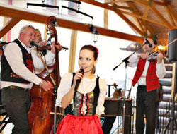 folklore band singing and playing
