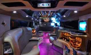 prague limousine hummer interior