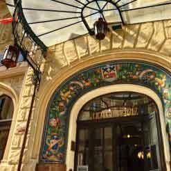street view of the entry to the prague art nouveau hotel paris