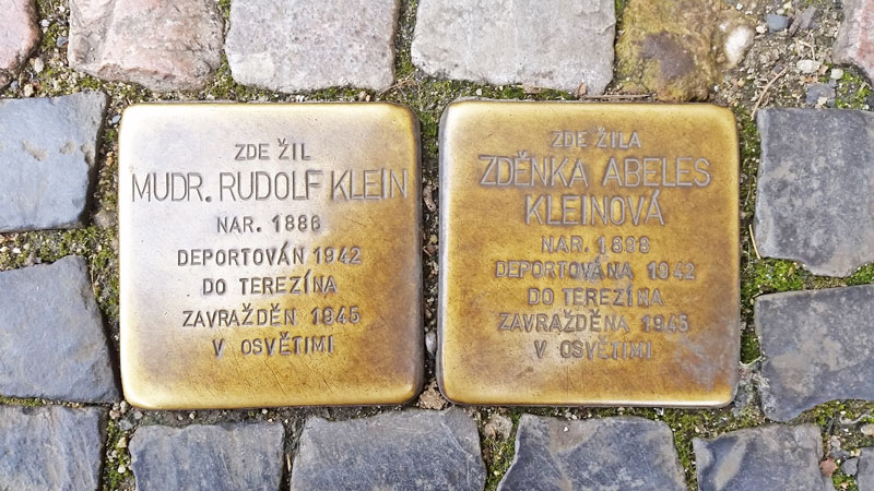 Prague Stolpersteine stumble stones