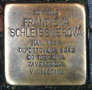 prague stumble stones frantiska schleissnerova