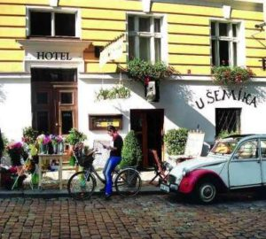 street view of the prague hotel and restaurant u semika