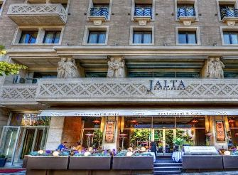 prague wenceslas square hotels, street view of the hotel jalta