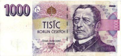 czech 1000 korun note