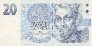 czech 20 korun note
