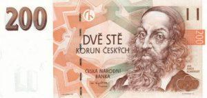 czech 200 korun note
