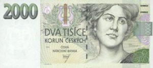 czech 2000 korun note