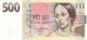 czech 500 korun note