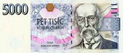 czech 5000 korun note