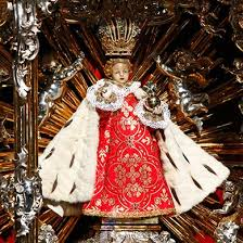 prague infant jesus wearing red at easter