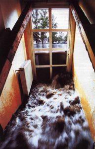 water rushing in a broken window