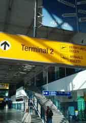 prague airport termianl 2 arrival sign