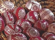 czech hand decorated easter eggs