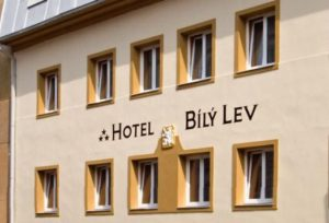street view of the hotel bily lev in prague