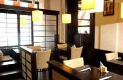 planet sushi japanese restaurant in prague, interior