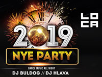 prague loca bar new years eve 2019 party poster
