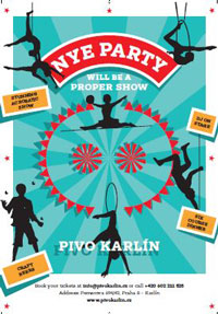 pivo karlin new years eve poster