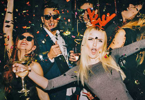 people celebrating at a new year party