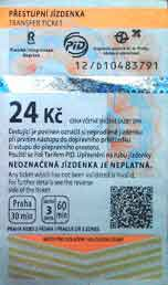 czech 24 korun ticket