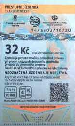 czech 32 korun ticket