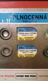 prague mechanical ticket machine close up