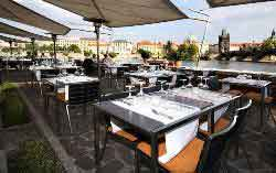 terrace at the hergetova cihelna prague scenic restaurant