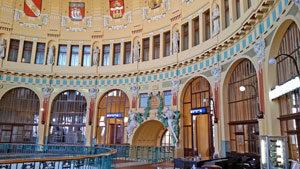 prague main train station historic area