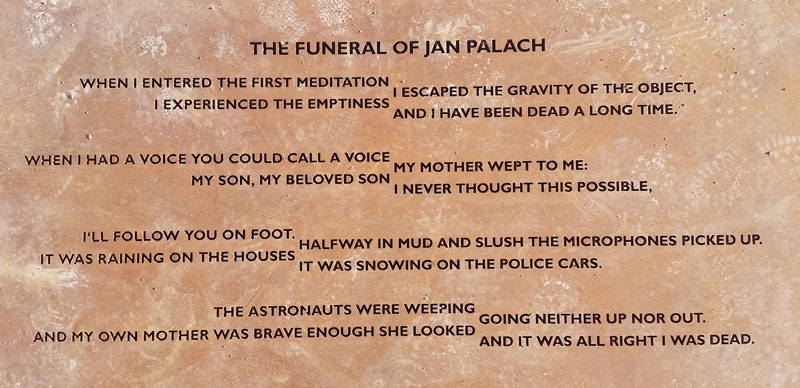 a poem called the funeral of jan palach