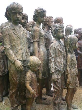Children of Lidice memorial close-up