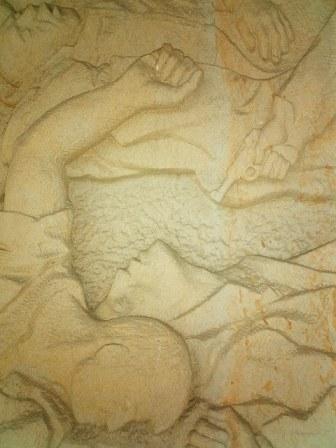 relief showing massacre at lidice horaks farm