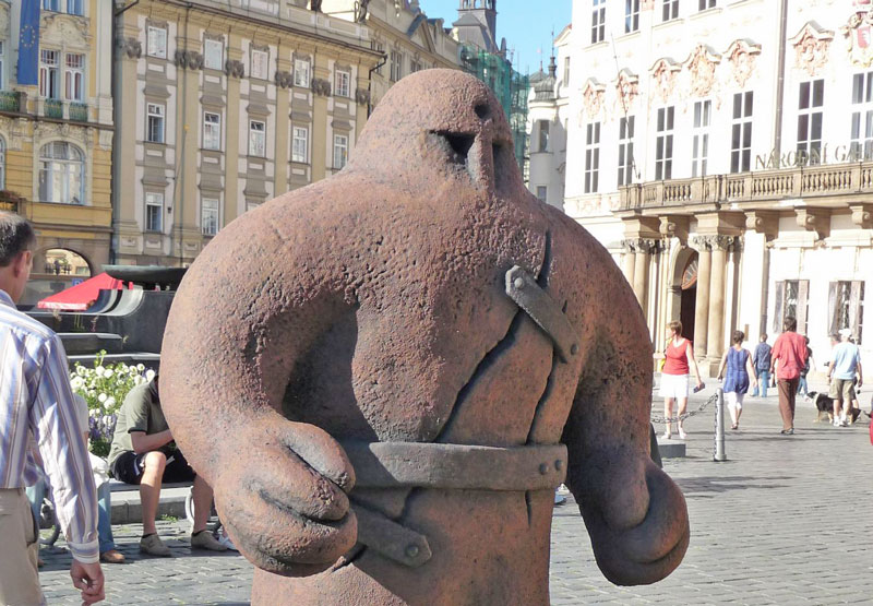 prague golem old town square