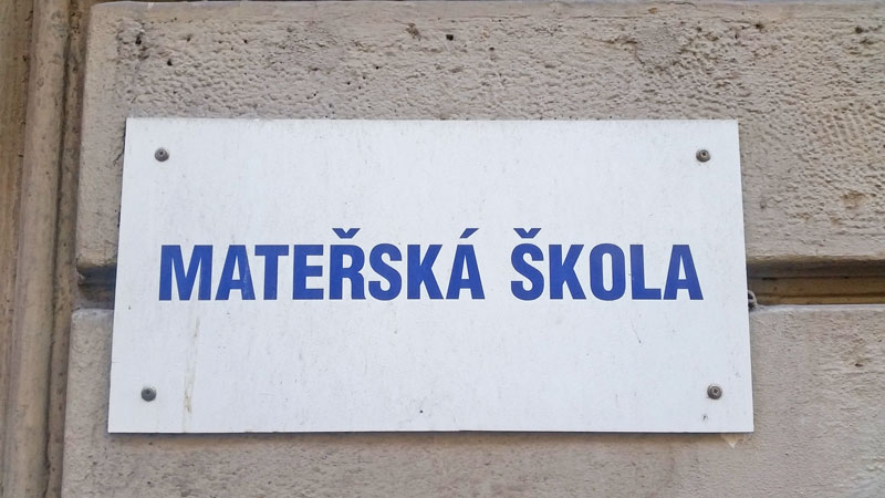 materska skola sign