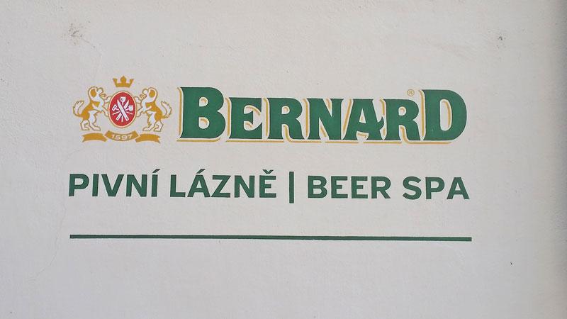 bernard prague beer spa sign