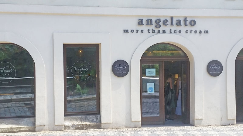facade of the angelato shop at ujezd 24