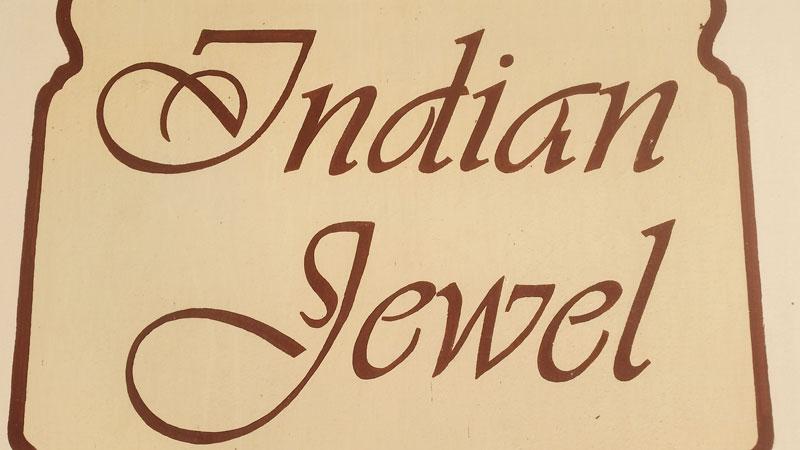 sign saying indian jewel