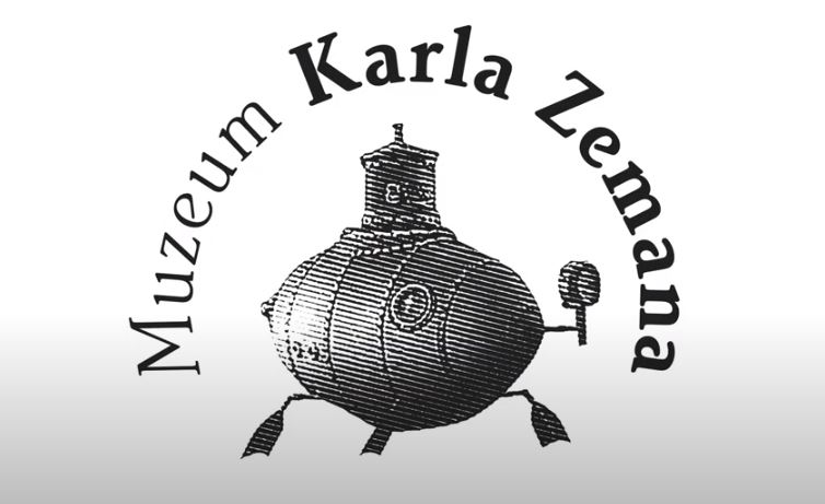 animated submarine logo of the karel zeman museum in prague