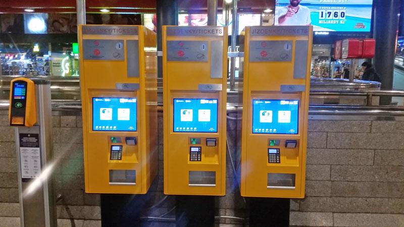 3 touch screen prague public transport ticket machines
