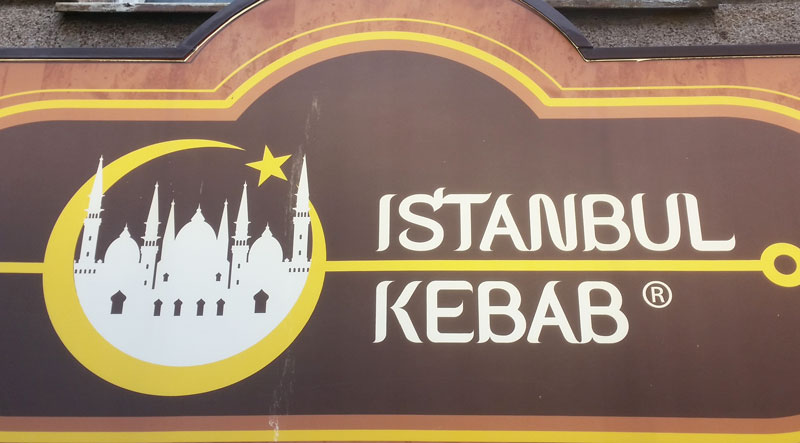 sign saying istanbul kebab