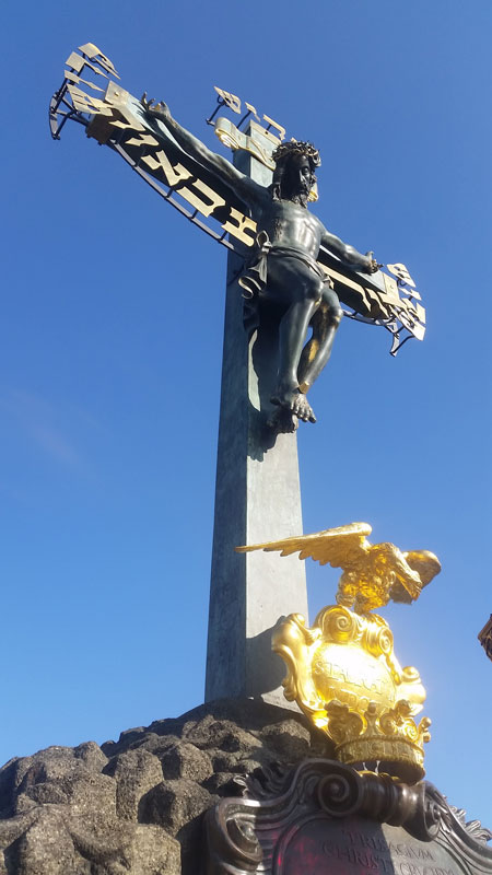 prague calvary showing the 1707 golgotha hill base addition