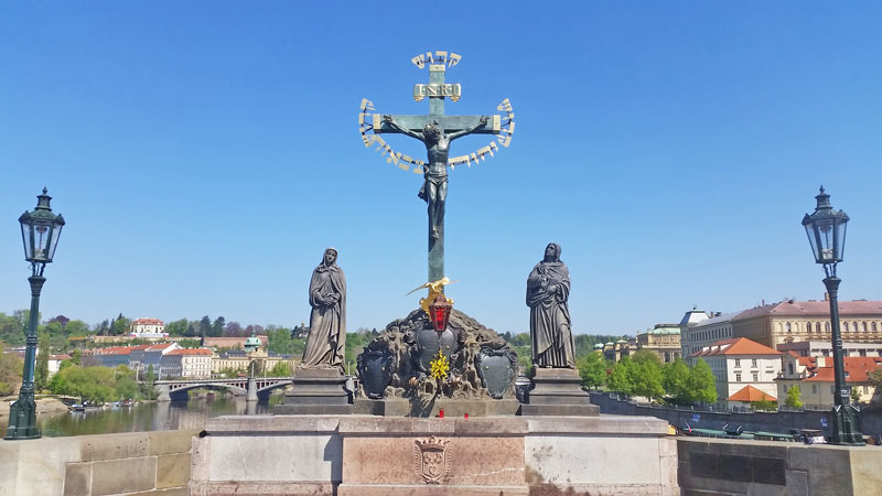 The Prague Calvary scene on charles bridge