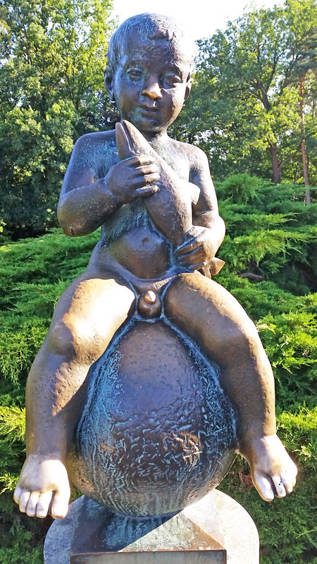 fertility statue called frantisek in the czech town of frantiskovy lazne