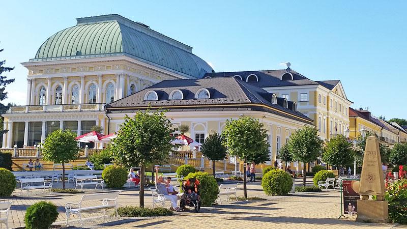 a spa hotel in the czech town of frantiskovy lazne