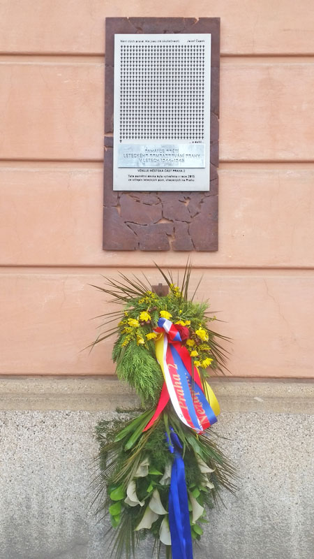 prague memorial for the february 14th allied bombing victims